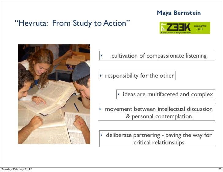 "Maya Bernstein          ""Hevruta: From Study to Action""                               summer/fall                         ..."
