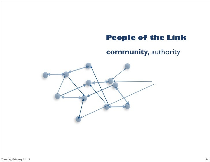 People of the Link                           community, authorityTuesday, February 21, 12                          34