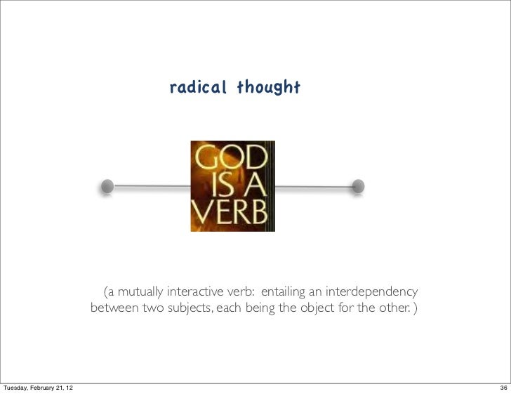 radical thought                                                Link                             (a mutually interactive ve...