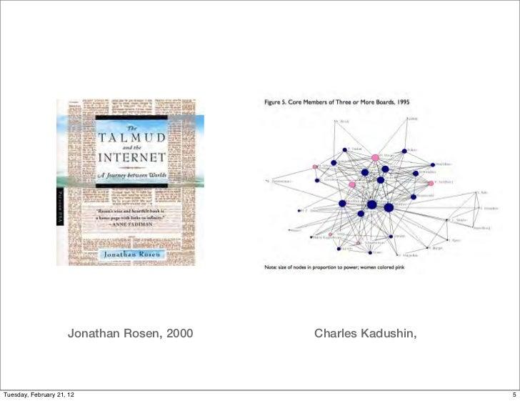 Jonathan Rosen, 2000   Charles Kadushin,Tuesday, February 21, 12                                        5