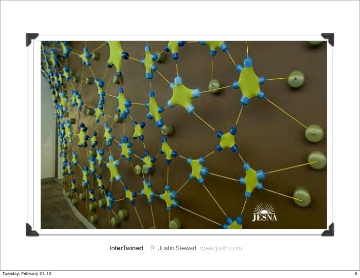 InterTwined   R. Justin Stewart www.rjustin.comTuesday, February 21, 12                                                   ...