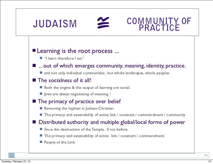 JUDAISM                                                   COMMUNITY OF                                                    ...