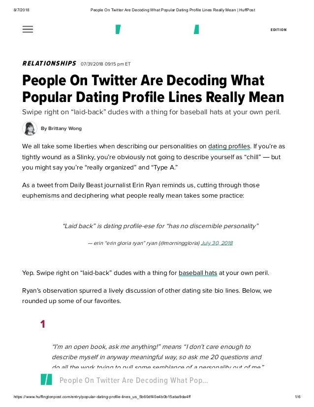 All dating lines