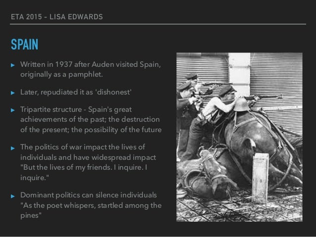 people politics and the poetry of w h auden 26 eta 2015 lisa edwards the unknown citizen