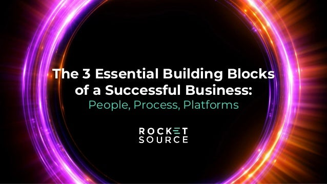 The 3 Essential Building Blocks of a Successful Business: People, Process, Platforms