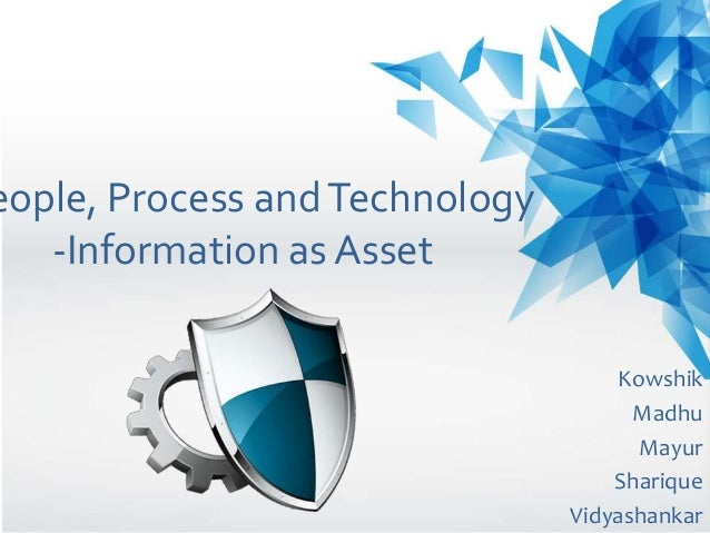eople, Process andTechnology -Information as Asset Kowshik Madhu Mayur Sharique Vidyashankar