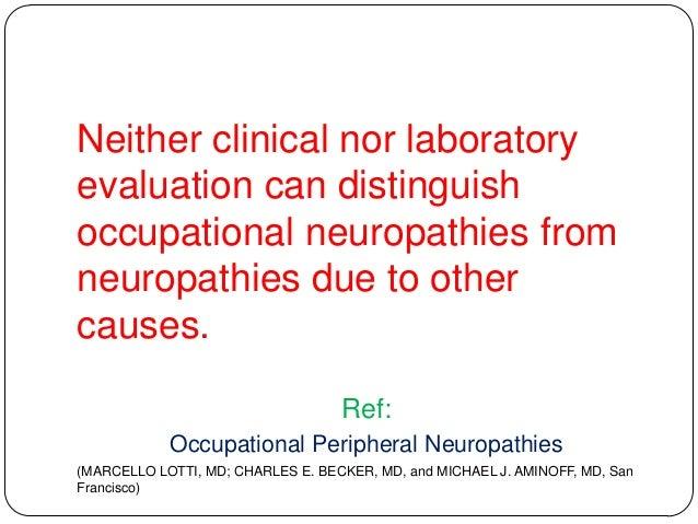 Toxic neuropathy Slide 2