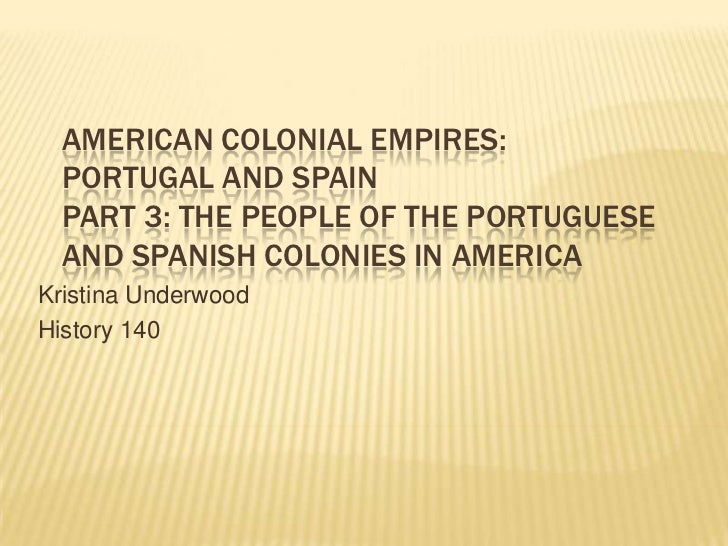 American Colonial Empires: Portugal and SpainPart 3: The People of the Portuguese and Spanish Colonies in America<br />Kri...