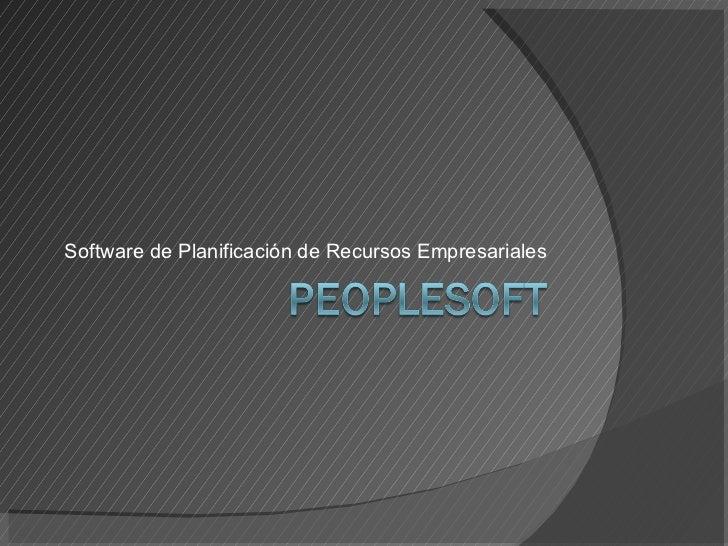 Software de Planificación de Recursos Empresariales