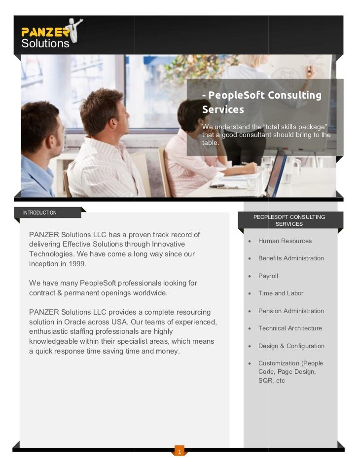 PANZERSolutions                                                      - PeopleSoft Consulting                              ...