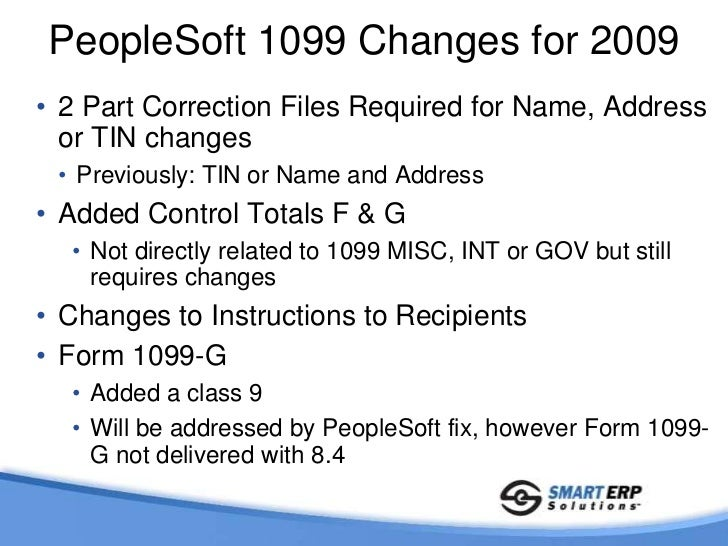 Peoplesoft 1099 Reporting Solutions