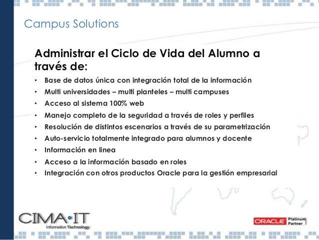 Campus Solutions Warehouse Gestión académica Gestión universitaria Gestión docente