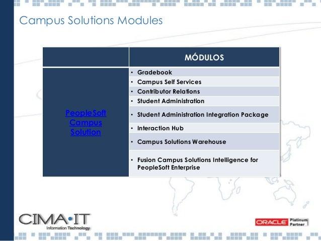 Campus Solutions - Funciones Selección y Admisión Selección, Admisiones permite planificar, gestionar y realizar el seguim...