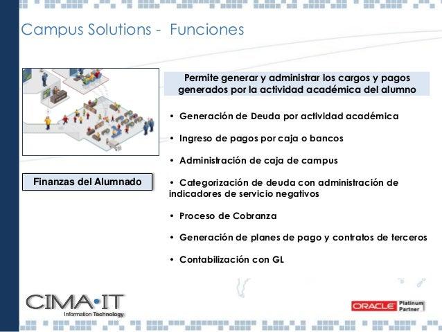 Comunidad de Campus Mantiene la información general de las personas y organizaciones relacionadas con la institución, admi...