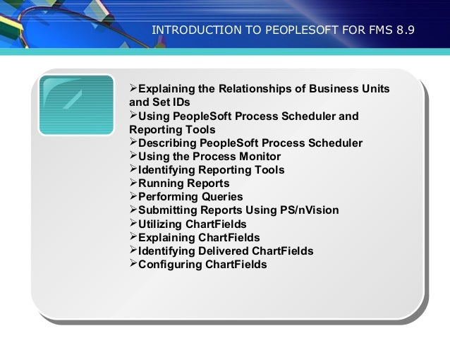 peoplesoft financials training – Nvision Peoplesoft