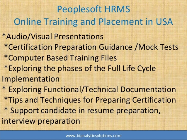 peoplesoft hrms online training  peoplesoft hrms training  peoplesoft u2026