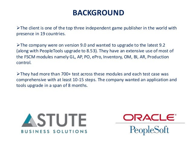 BACKGROUND The client is one of the top three independent game publisher in the world with presence in 19 countries. The...