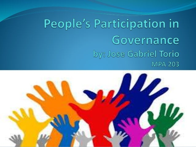 what is peoples participation