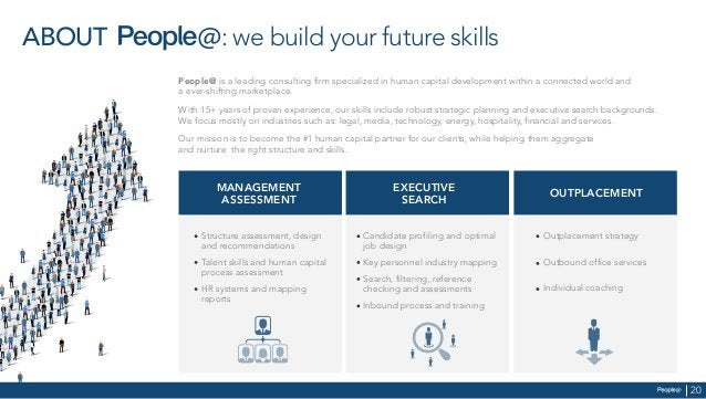 ABOUT : we build your future skills People@ is a leading consulting firm specialized in human capital development within a...
