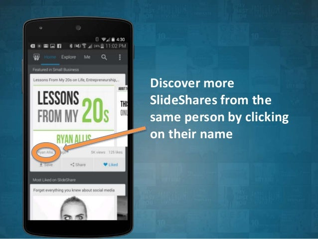 People Discovery on SlideShare's Android App Slide 3