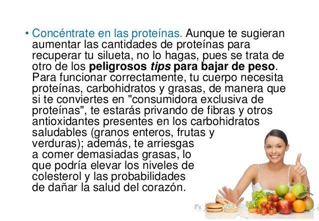 Recomendaciones para bajar de peso omsd
