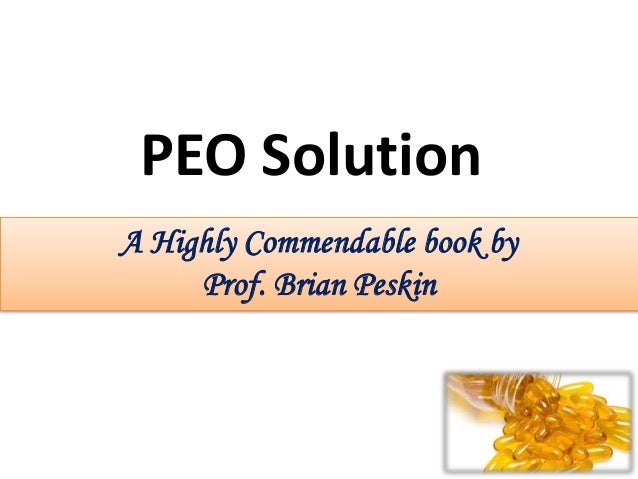 A Highly Commendable book by Prof. Brian Peskin PEO Solution