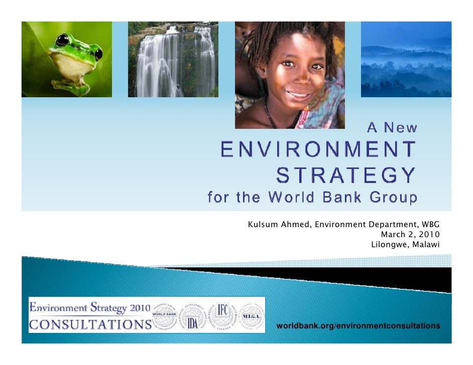 Pep15 A New Environment Strategy For The World Bank Group