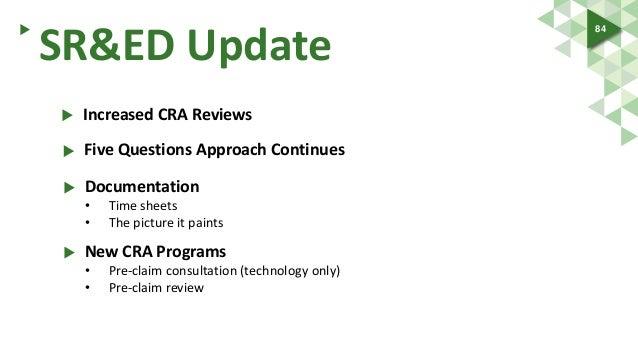 cra sr&ed claim review manual