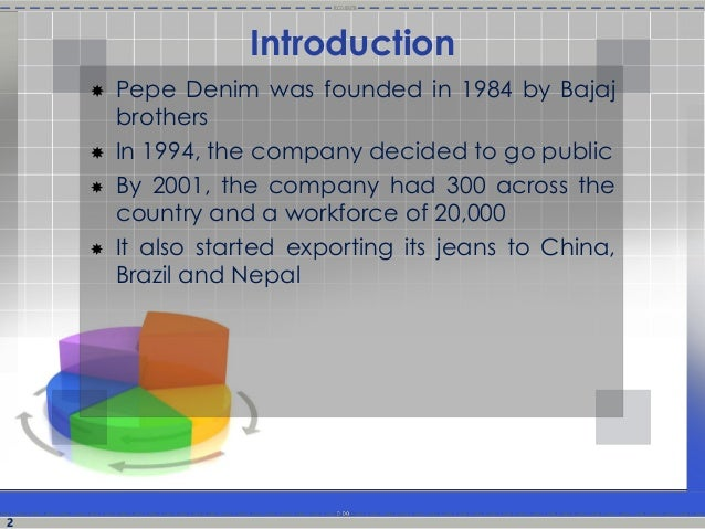 pepe jeans case analysis Case study on pepe jeans submitted by akshit jain.