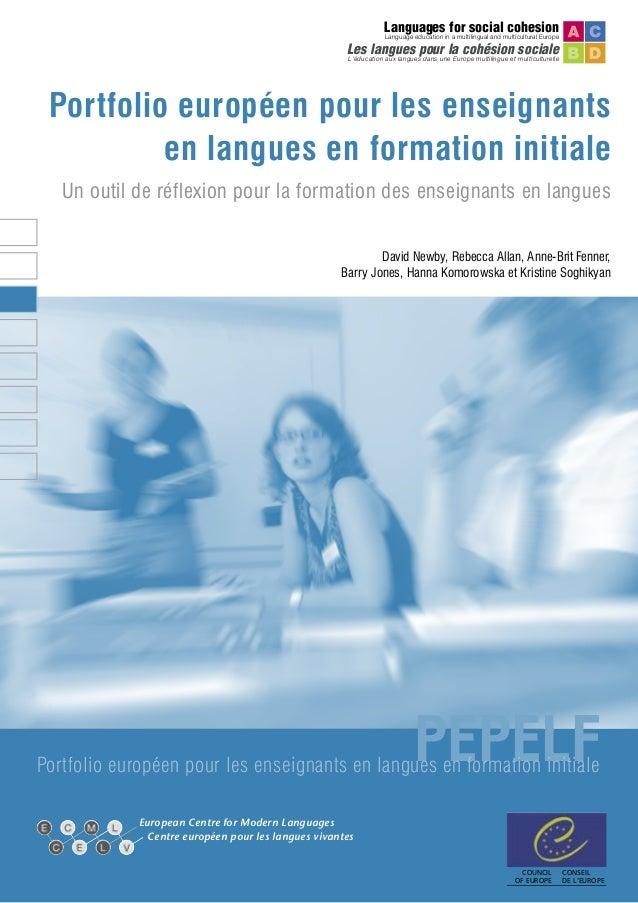 Languages for social cohesion  Language education in a multilingual and multicultural Europe  Les langues pour la cohésion...