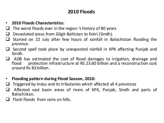 Essay on floods in pakistan