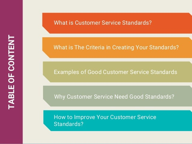 implement customer service standards essay The official website of the federal trade commission, protecting america's consumers for over 100 years.