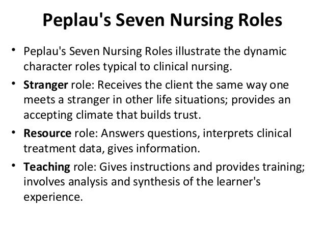 hildegard peplaus nursing theory analysis In addition, hildegard peplau changed the nursing profession by developing a  theory commonly referred to as the interpersonal relations theory that has greatly .