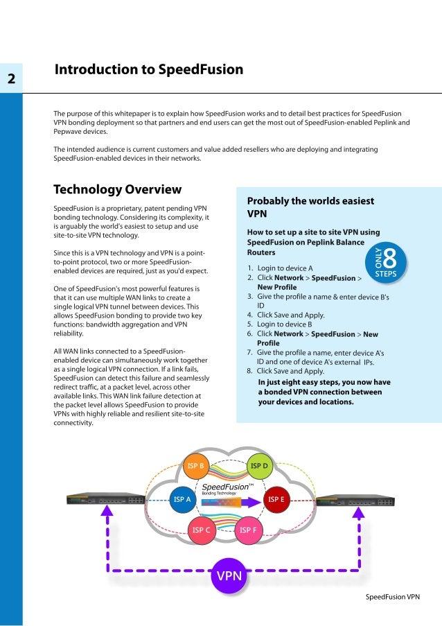 Peplink SpeedFusion Technology Best Practices