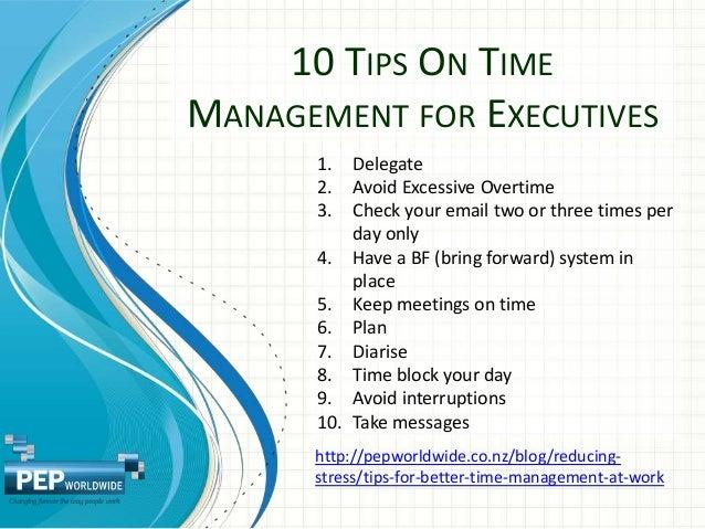 PEPWorldWide Time Management Slideshow