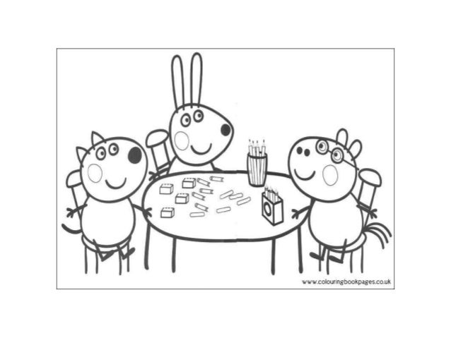 Peppa pig Colouring Pages and Kids Colouring Activities
