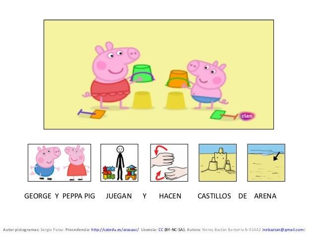 Peppa Pig Va A La Playa Cuento Con Pictogramas