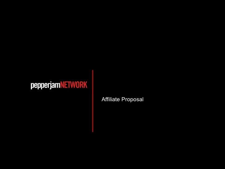 Affiliate Proposal