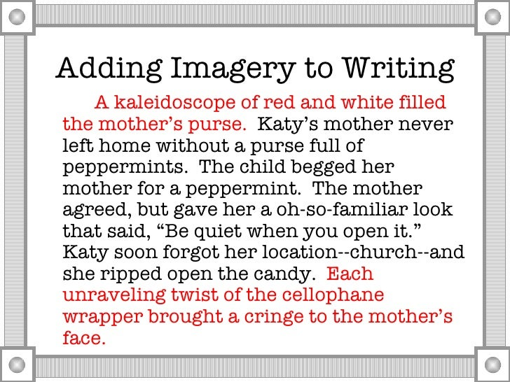 imagery through writing