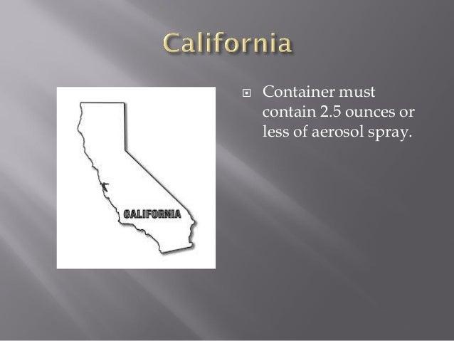 california pepper spray laws