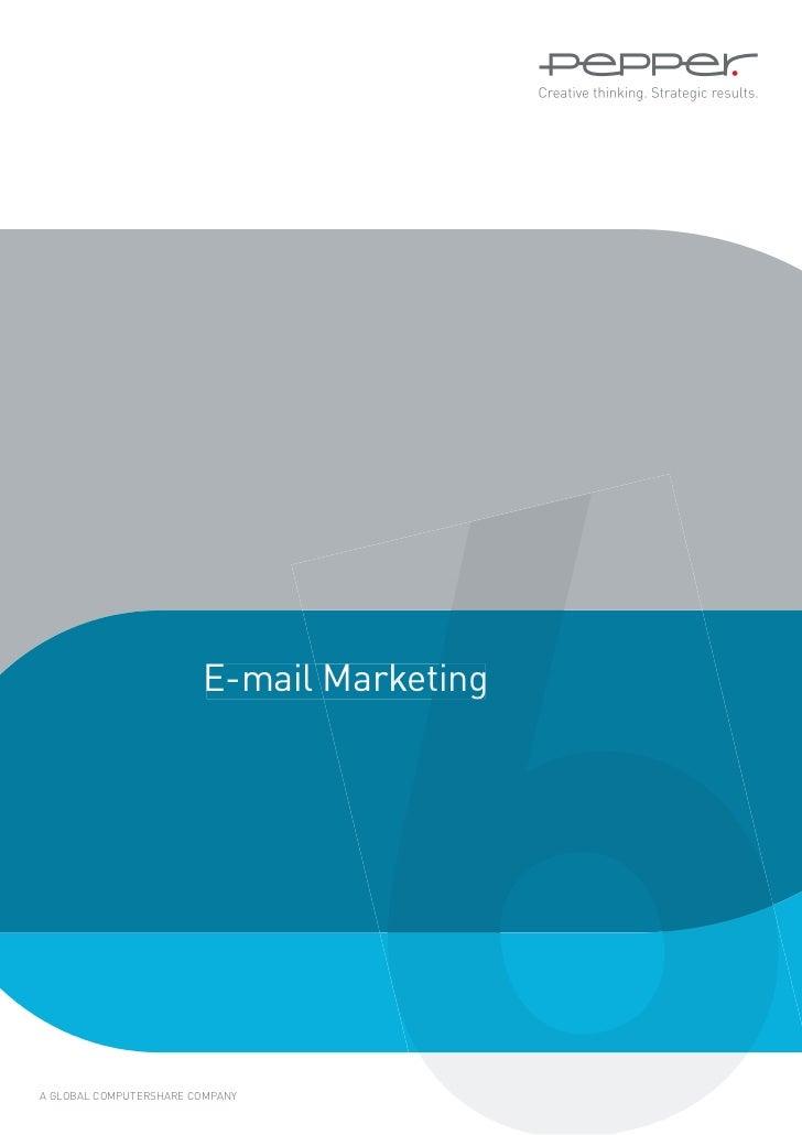 E-mail MarketingA GLOBAL COMPUTERSHARE COMPANY