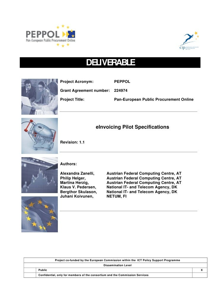 DELIVERABLE                 Project Acronym:                     PEPPOL                 Grant Agreement number:           ...