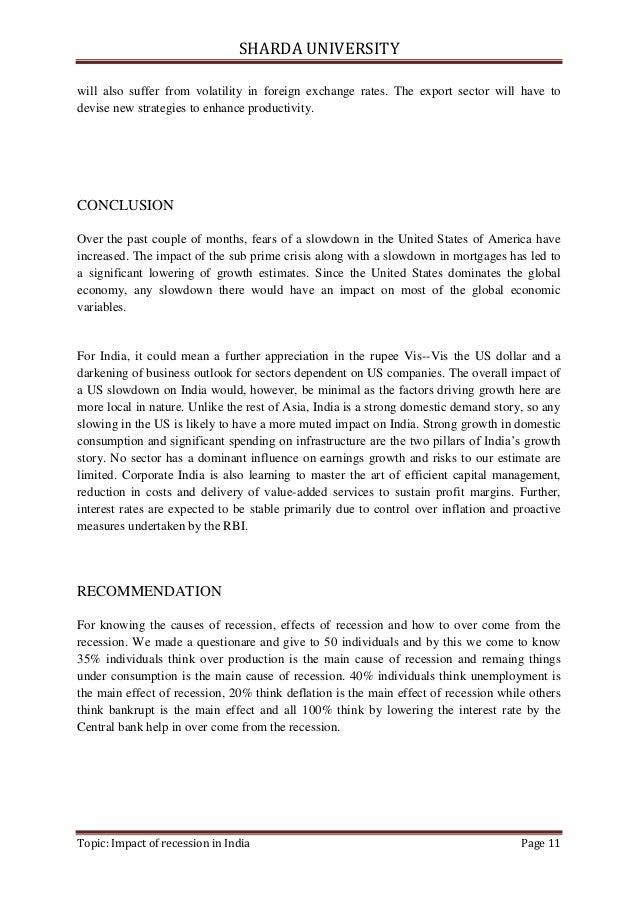 Impact Of Recession In India Corporatestopic Impact Of Recession In India Page