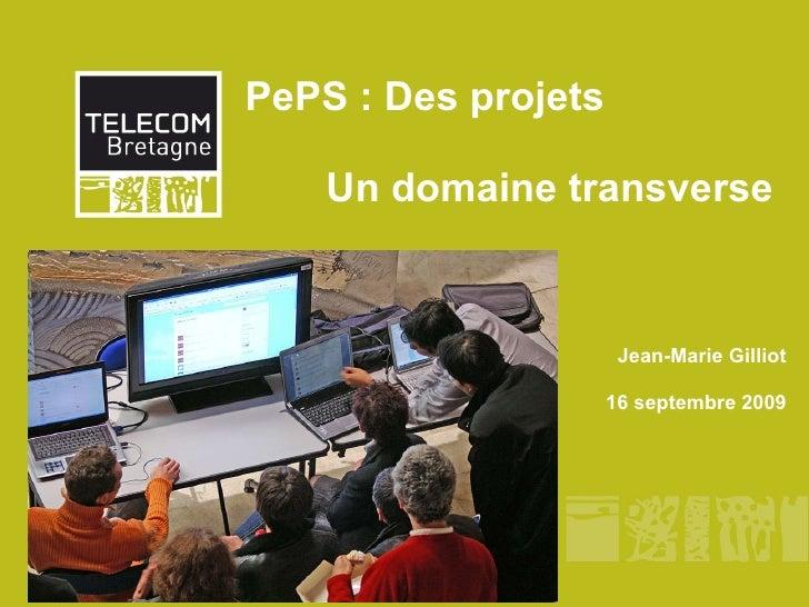 PePS : Des projets  Un domaine transverse Jean-Marie Gilliot 16 septembre 2009