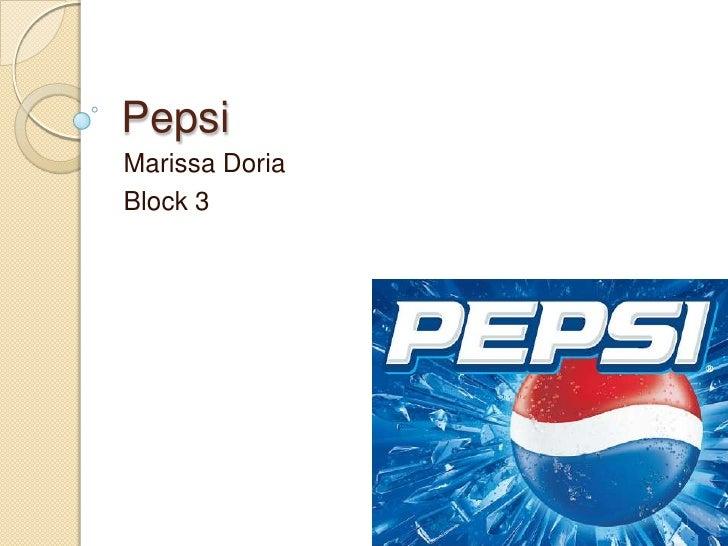 Pepsi Marissa Doria Block 3