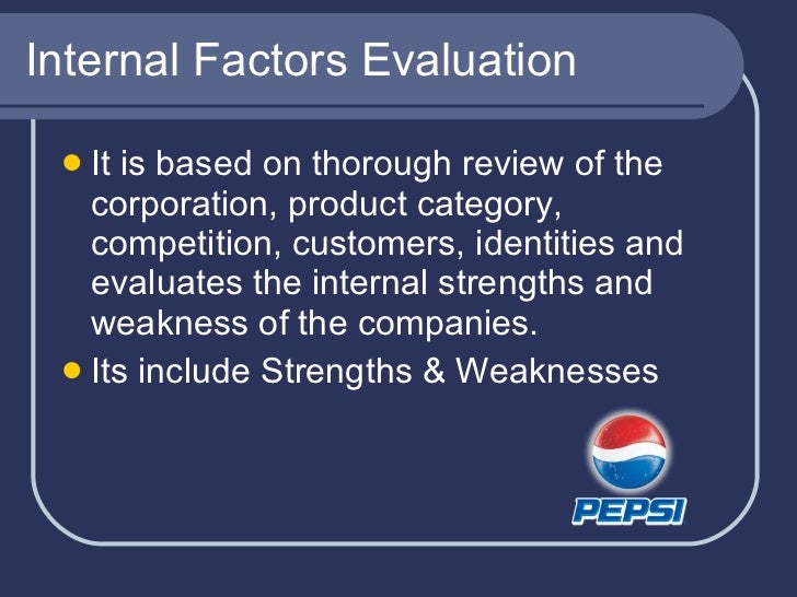 political factors of pepsi Pepsi has been considered as one of the largest food and beverage  the  political factors include the external factors like governmental.