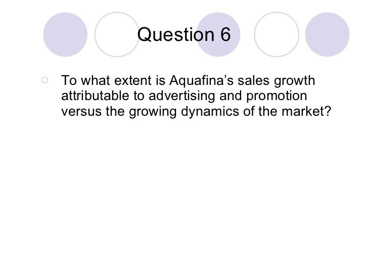 what markets should pepsi target for aquafina Aquafina purified drinking water (pepsi) - our water quality tests are not   should call the company to report any issues with the water's quality.