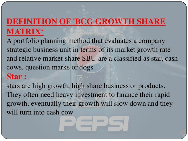 penetration of pepsi products Market penetration: (existing market, existing product)  for a full case  study of a market penetration strategy, take a look at this article i.