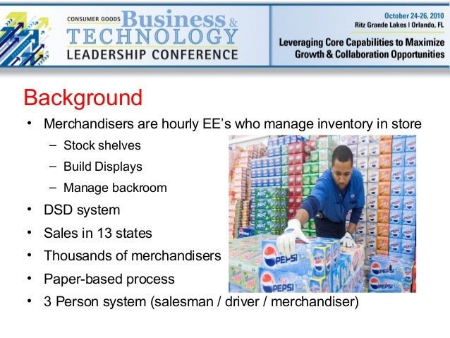 Pepsi sales force enablement & merchandising through mobility