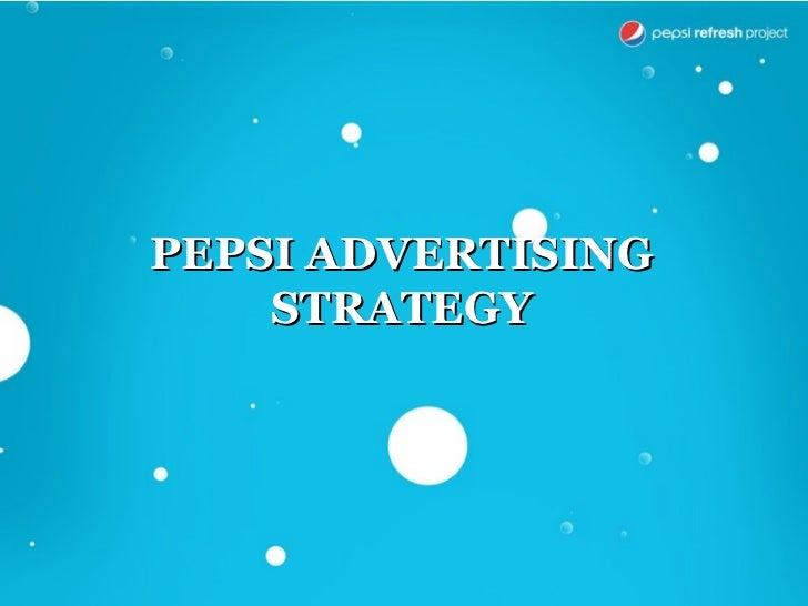 case study marketing strategy pepsi Us based pepsico conducted a major restructuring exercise in 1997-1998 by  spinning-off its restaurant and  learning with cases: an interactive study guide.